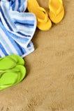 волейбол лета пляжа шарика предпосылки красивейший пустой Стоковые Фотографии RF