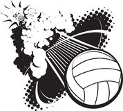 Волейбол звукового удара Стоковые Фото
