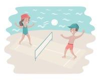 Волейбол игры ребенк Стоковые Фото
