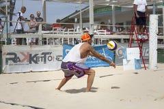 Волейболисты пляжа людей Итальянский национальный чемпионат стоковые изображения rf