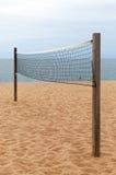 волейбол песка ладоней пляжа сетчатый Стоковое фото RF