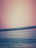 Волейбол пляжа захода солнца Стоковая Фотография