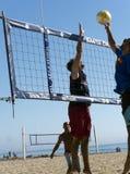 Волейбол пляжа на Santa Cruz Стоковые Изображения