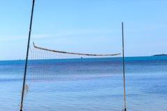 волейбол пляжа сетчатый Стоковое Изображение RF