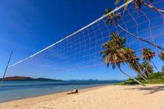 волейбол пляжа сетчатый Стоковая Фотография RF