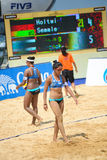 Волейбол пляжа Стоковая Фотография RF