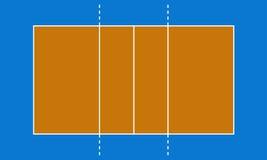 Волейбольное поле Стоковое Изображение