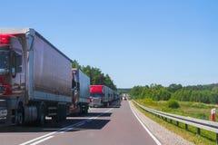 Водители грузовика столбца Стоковые Изображения