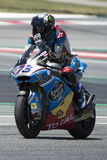 Водитель АЛЕКС MARQUEZ Команда AGR Moto2 Энергия Grand Prix изверга Каталонии Стоковое фото RF