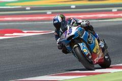 Водитель АЛЕКС MARQUEZ Команда AGR Moto2 Энергия Grand Prix изверга Каталонии Стоковое Изображение RF