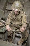 Водитель военного транспортного средства Второй Мировой Войны Стоковые Изображения RF