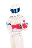Водитель гоночной машины Стоковое Изображение