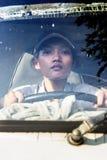 Водитель грузовика женщины Стоковые Изображения