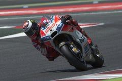 Водитель Джордж Lorenzo КОМАНДА Ducati Энергия Grand Prix изверга Каталонии Стоковые Изображения RF