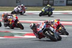 Водитель Джордж Lorenzo КОМАНДА Ducati Энергия Grand Prix изверга Каталонии Стоковое фото RF