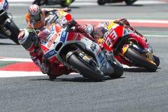 Водитель Джордж Lorenzo КОМАНДА Ducati Энергия Grand Prix изверга Каталонии Стоковые Фотографии RF