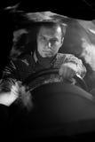 Водитель держа рулевое колесо Стоковая Фотография RF
