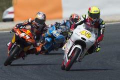 Водитель Маркос Ramirez Команда платины Moto3 Энергия Grand Prix изверга Каталонии Стоковое Изображение RF