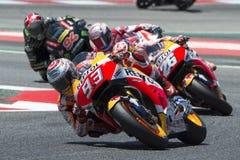 Водитель МАРК MARQUEZ Команда Honda Энергия Grand Prix изверга Каталонии Стоковое Изображение RF