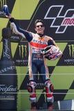Водитель МАРК MARQUEZ Энергия Grand Prix изверга Каталонии MotoGP Стоковое Фото