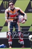 Водитель МАРК MARQUEZ Энергия Grand Prix изверга Каталонии MotoGP Стоковое фото RF