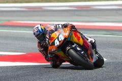 Водитель Мигель Oliveira Красная команда Bull Moto2 Энергия Grand Prix изверга Каталонии Стоковые Изображения