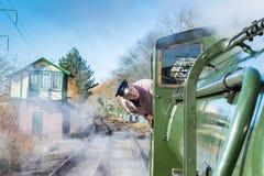 Водитель поезда пара Стоковые Изображения RF