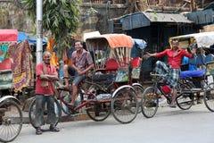 Водитель рикши в Kolkata стоковые изображения rf
