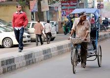 Водитель рикши Стоковое Фото