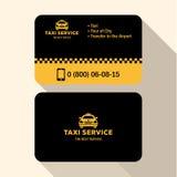 Водитель такси визитной карточки, плоское современное ультрамодное Стоковое фото RF