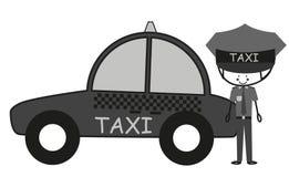 Водитель такси Doodle Стоковое Изображение RF