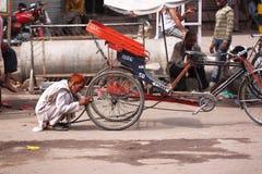 Водитель трицикла стоковое изображение