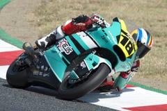 Водитель Cardelus Garcia, Xavier Moto3 Команда Stylobike Стоковое фото RF