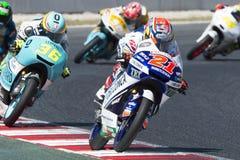 Водитель FABIO DI GIANNANTONIO Гоночная команда Gresini Moto3 Энергия Grand Prix изверга Каталонии Стоковое Изображение RF