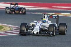 Водитель Felipe Massa Команда Williams Мартини Стоковое Изображение RF