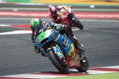 Водитель Franco Morbidelli КОМАНДА Estrella Галиции Moto2 Энергия Grand Prix изверга Каталонии Стоковое фото RF