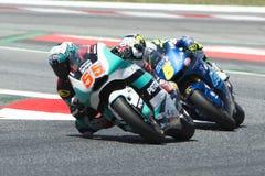 Водитель Hafizh Syahrin Команда Petronas Moto2 Энергия Grand Prix изверга Каталонии Стоковые Изображения RF
