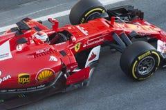Водитель Kimi Raikkonen Команда Феррари Стоковое Изображение