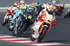 Водитель LORENZO DALLA PORTA Команда Mahindra Moto3 Энергия Grand Prix изверга Каталонии Стоковое Изображение