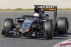 Водитель Niko Hulkenberg Сила Индия F1 Сахары команды Стоковые Изображения