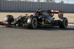 Водитель Romain Grosjean Лотос f команды Стоковое Изображение RF