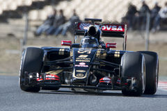 Водитель Romain Grosjean Лотос F1 команды Стоковое Фото