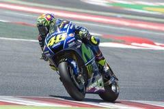 Водитель Valentino Rossi yamaha команды Энергия Grand Prix изверга Каталонии Стоковое Фото
