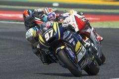 Водитель Xavi Vierge Команда Tech3 Moto2 Энергия Grand Prix изверга Каталонии Стоковые Фото