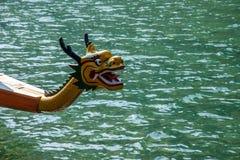 Водить шлюпки дракона морской воды Хубэй Zigui Three Gorges бамбуковый Стоковая Фотография RF