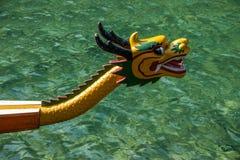 Водить шлюпки дракона морской воды Хубэй Zigui Three Gorges бамбуковый Стоковое Фото
