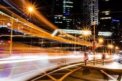 водит движение городка дороги ночи вы Стоковая Фотография RF