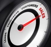 Водит к продажам преобразование Стоковое Изображение