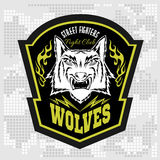 Волки - войска обозначают, значки и дизайн Стоковое Изображение RF