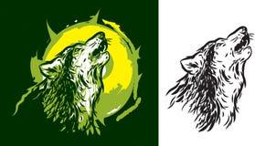 Волк завывая Стоковая Фотография